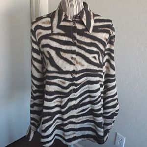 Escada Animal Print Silk Shirt